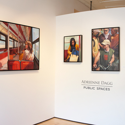 "Adrienne Dagg ""Public Spaces"" solo exhibition at Sivarulrasa Gallery in Almonte, Ontario"