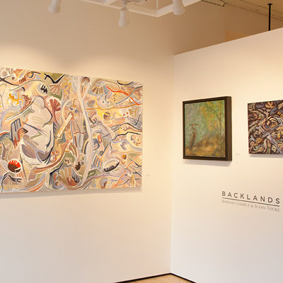 Barbara Gamble and Susan Tooke at Sivarulrasa Gallery