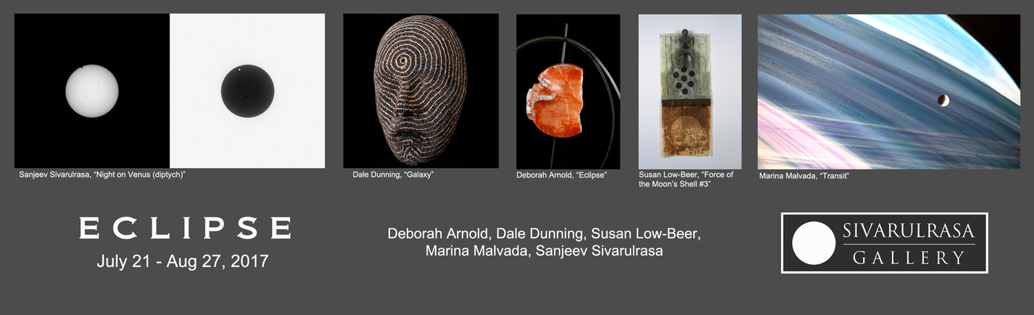 Eclipse, a group exhibition at Sivarulrasa Gallery. Featured artists: Deborah Arnold, Dale Dunning, Susan Low-Beer, Marina Malvada, Sanjeev Sivarulrasa