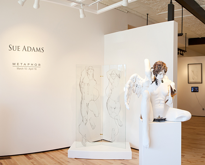Sue Adams sculpture at Sivarulrasa Gallery in Almonte, Ontario