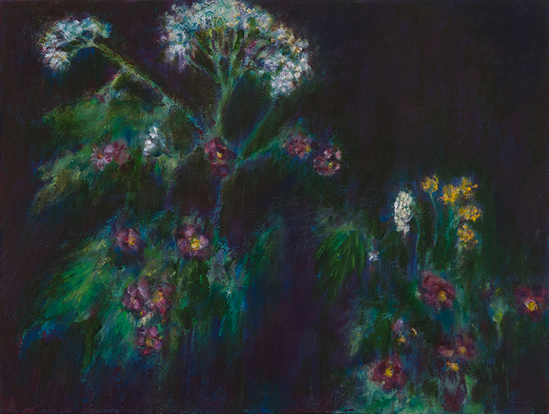 Artist Barbara Gamble paintings at Sivarulrasa Gallery in Almonte, Ontario