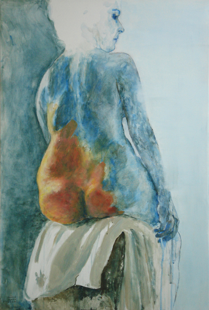 Artist David Kearn works on paper at Sivarulrasa Gallery in Almonte, Ontario