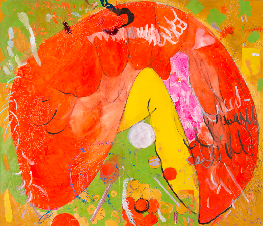 Artist Mirana Zuger paintings at Sivarulrasa Gallery in Almonte, Ontario