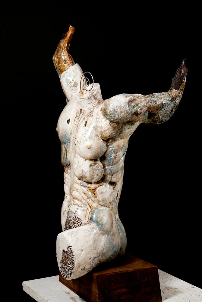 Artist Sue Adams sculpture at Sivarulrasa Gallery in Almonte, Ontario
