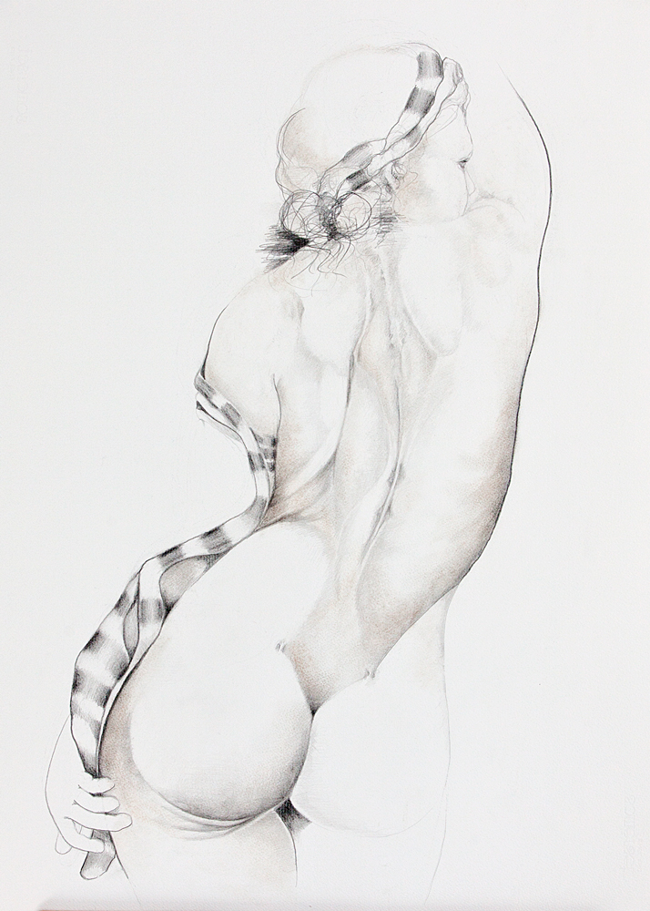 STUDY OF A WOMAN'S BACK, 34x26 inches