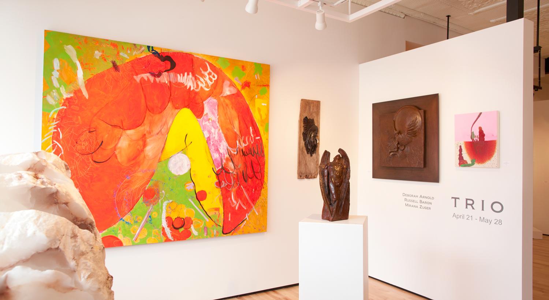 Mirana Zuger, Russell Baron, Deborah Arnold at Sivarulrasa Gallery in Almonte, Ontario