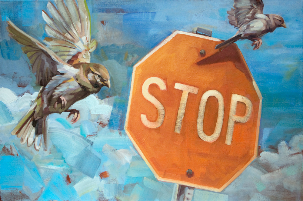 Artist Adrienne Dagg paintings at Sivarulrasa Gallery in Almonte, Ontario