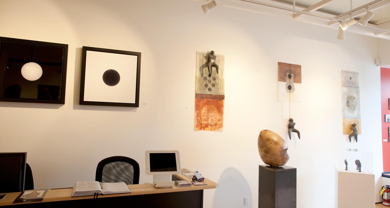 ECLIPSE, partial installation views at Sivarulrasa Gallery. Featured artists: Deborah Arnold, Dale Dunning, Susan Low-Beer, Marina Malvada, Sanjeev Sivarulrasa.