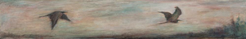 Artisr Barbara Gamble paintings at Sivarulrasa Gallery in Almonte, Ontario