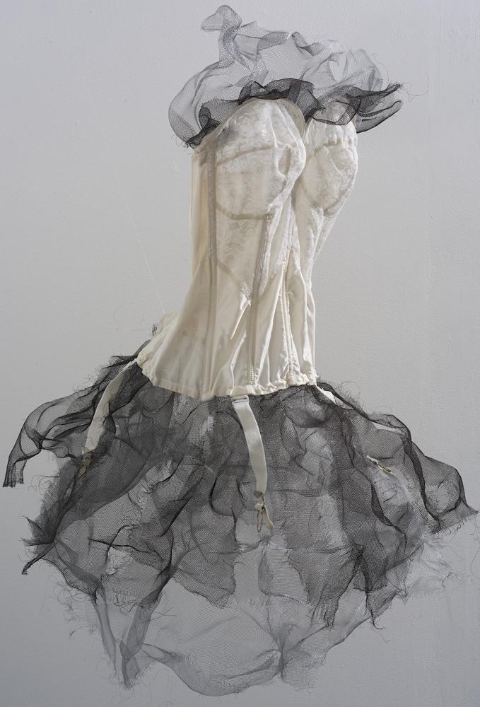 Artist Gayle Kells assemblage at Sivarulrasa Gallery in Almonte, Ontario