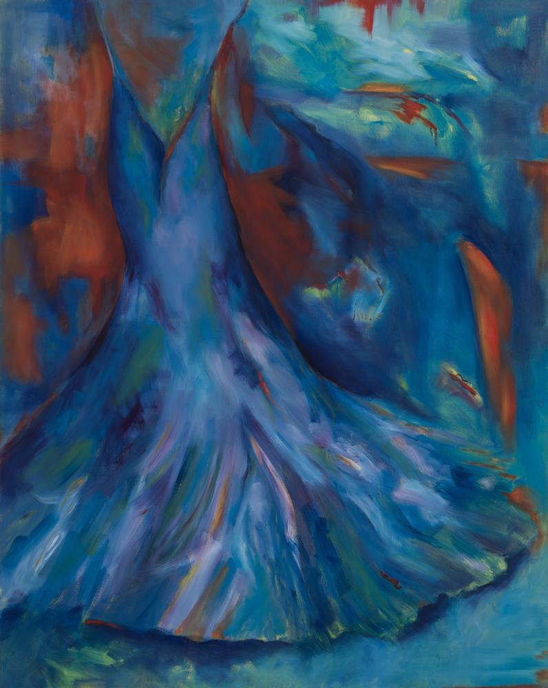 Artist Gayle Kells paintings at Sivarulrasa Gallery in Almonte, Ontario