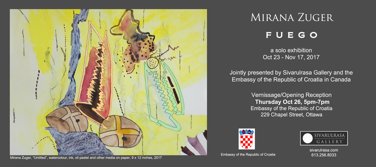 Mirana Zuger solo exhibition, Sivarulrasa Gallery and Embassy of Croatia