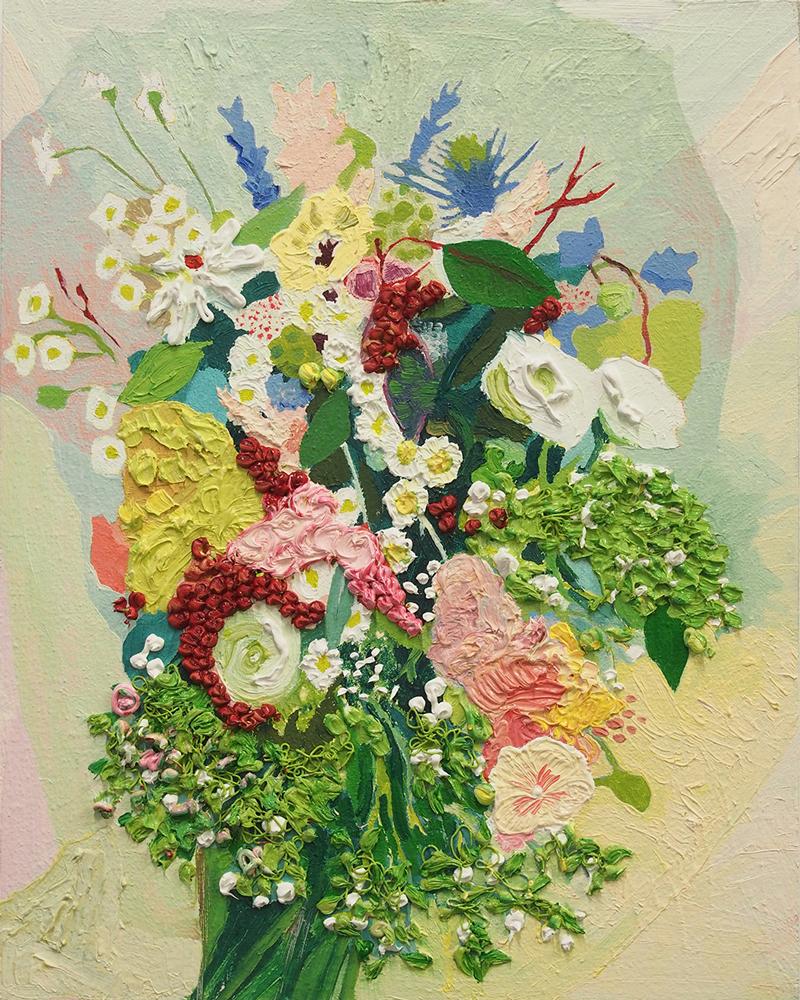 Artist Carly Belford paintings at Sivarulrasa Gallery in Almonte, Ontario