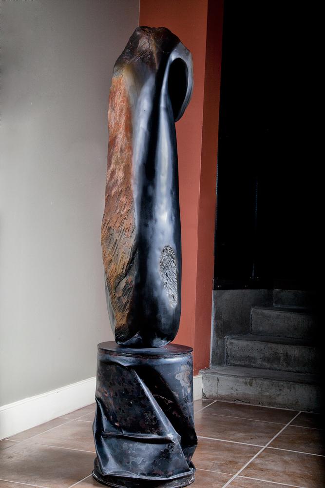 Artist Deborah Arnold sculpture at Sivarulrasa Gallery in Almonte, Ontario