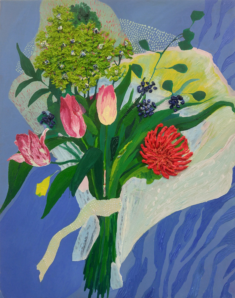 Artist Carly Belford paintings at Sivarulrasa Gallery in Almonte, Ontario