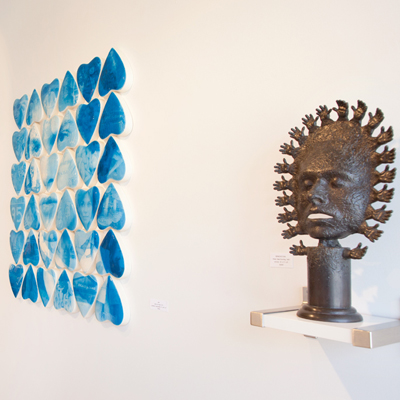 Dale Dunning and Jim Hake sculpture at Sivarulrasa Gallery in Almonte, Ontario