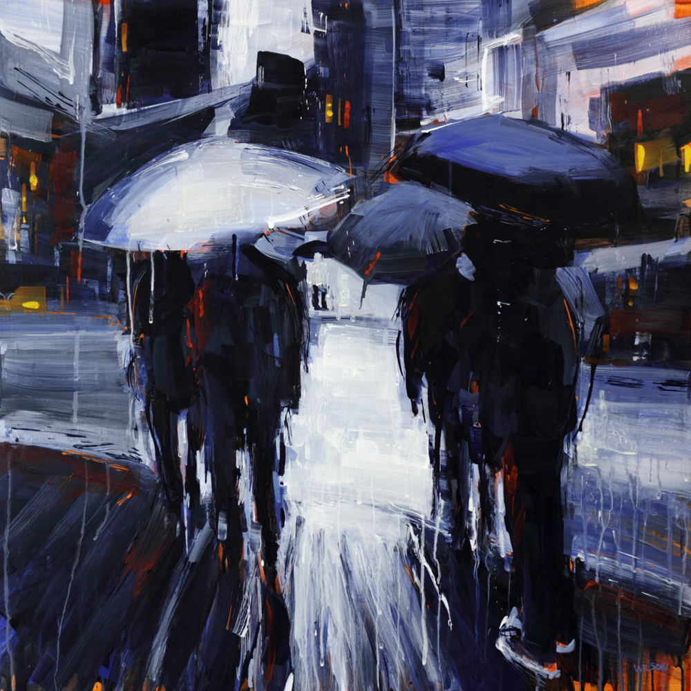 Artist David Wilson paintings at Sivarulrasa Gallery in Almonte, Ontario