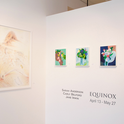 Carly Belford, Jane Irwin, and Sarah Anderson at Sivarulrasa Gallery
