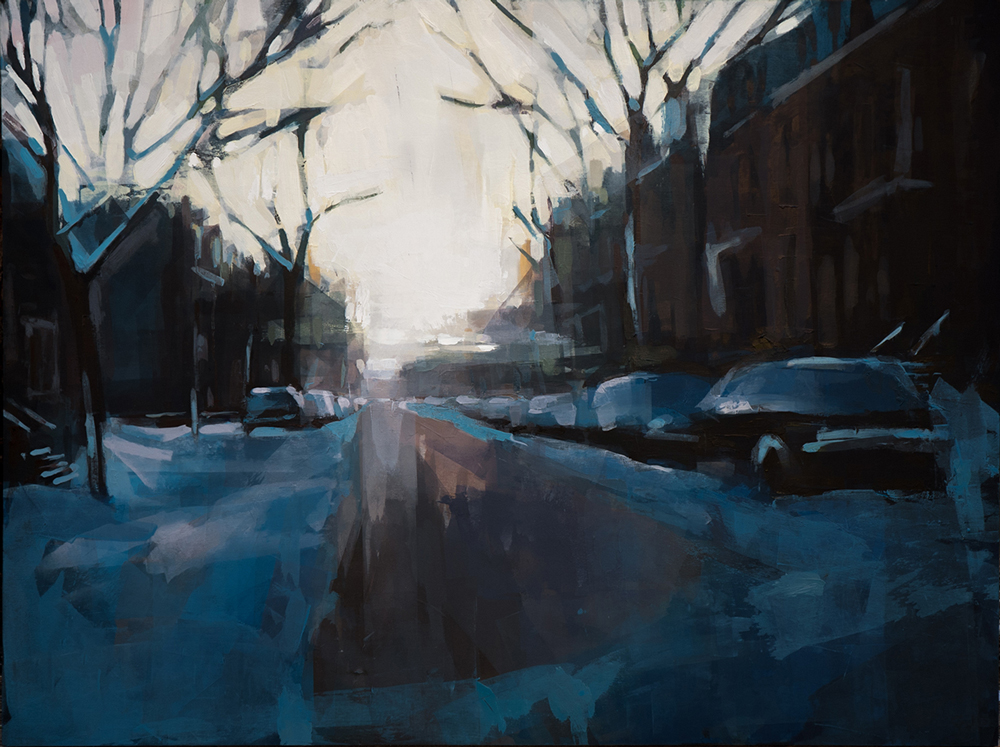 Artist Jeremy Price paintings at Sivarulrasa Gallery in Almonte, Ontario