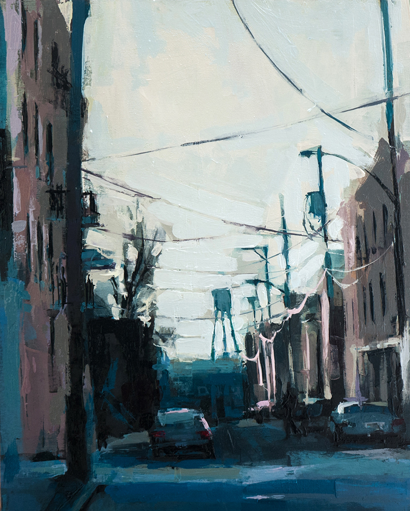 Artist Jeremy Price paintings at Sivarulrasa Gallery in Almonte, Ontario