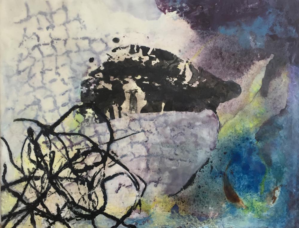 Carol Bajen-Gahm paintings at Sivarulrasa Gallery