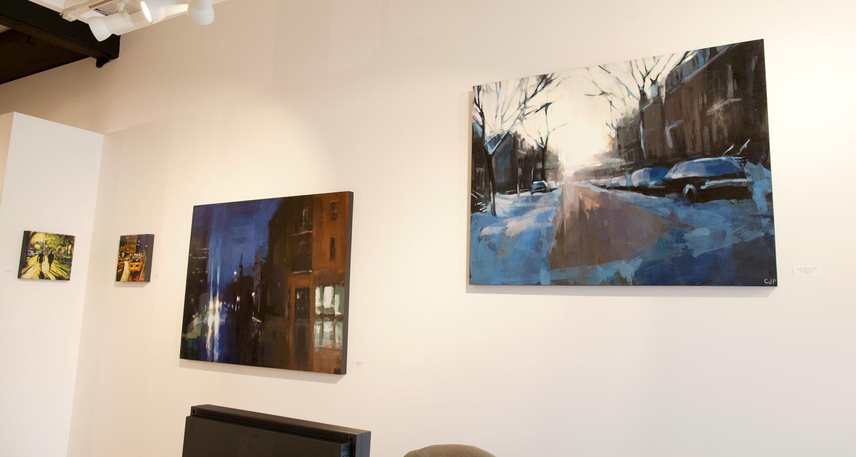 Jeremy Price and David Wilson paintings at Sivarulrasa Gallery