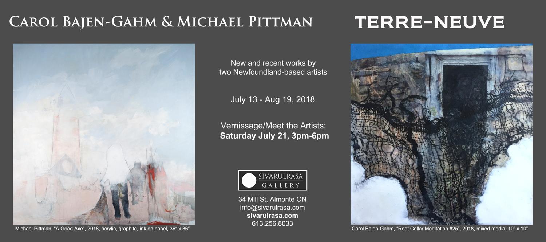 Carol Bajen-Gahm and Michael Pittman paintings at Sivarulrasa Gallery