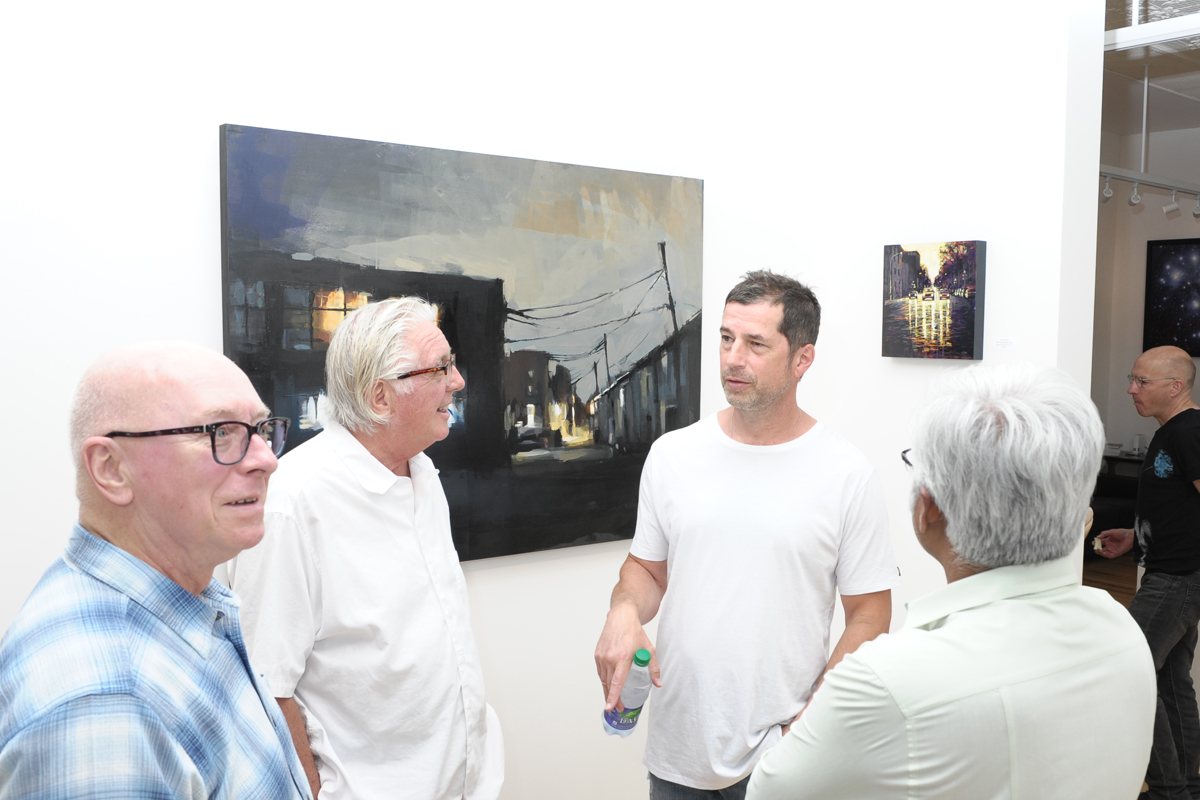 Jeremy Price and David Wilson paintings at Sivarulrasa Gallery in Almonte, Ontario