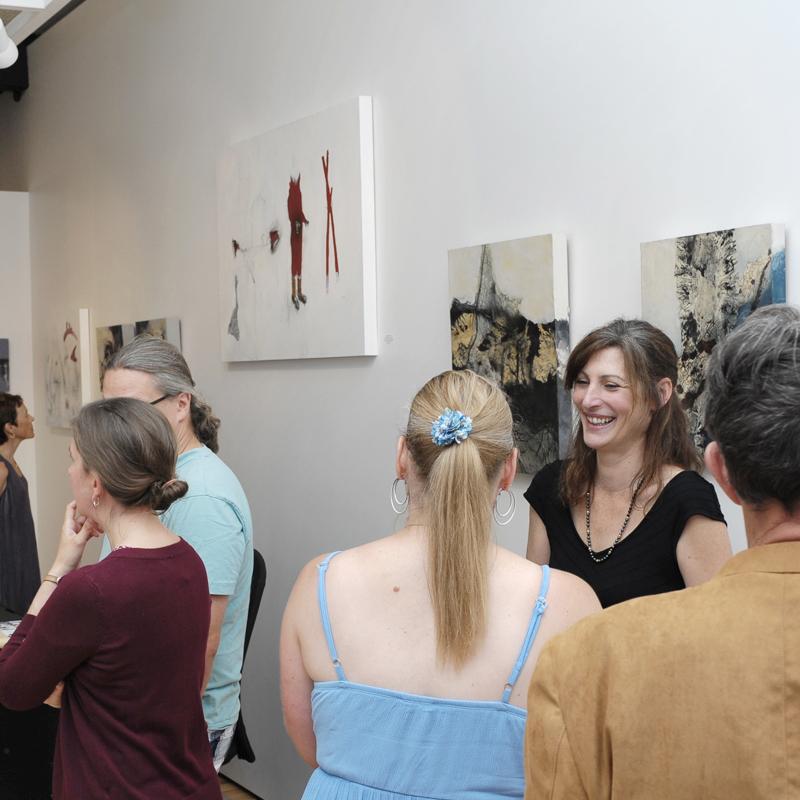 Michael Pittman and Carol Bajen-Gahm vernissage at Sivarulrasa Gallery
