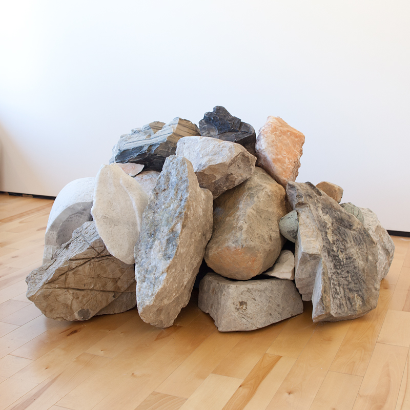Stone and sound sculpture by Deborah Arnold and Dipna Horra