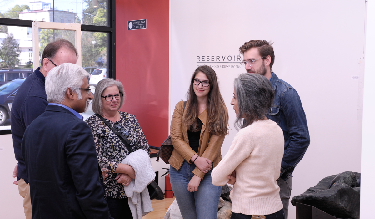 Vernissage for RESERVOIR, Deborah Arnold and Dipna Horra at Sivarulrasa Gallery
