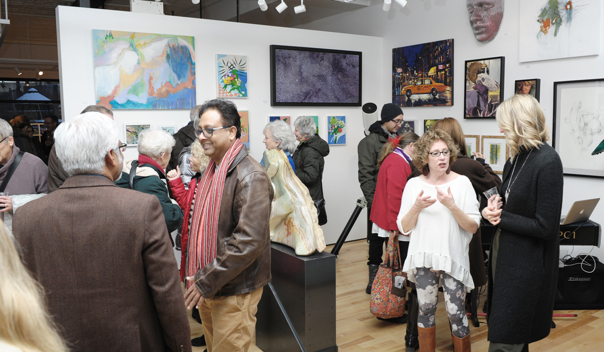4th Anniversary Show vernissage at Sivarulrasa Gallery, Almonte, Ontario