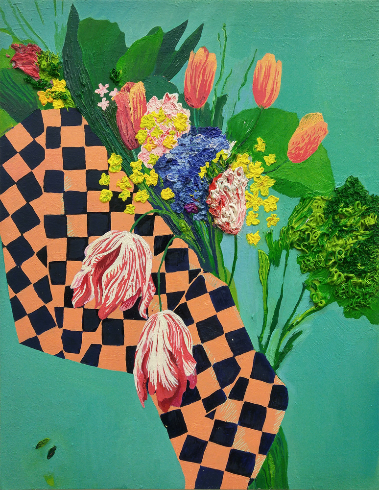 BOUQUET WITH CHECKS, Carly Belford