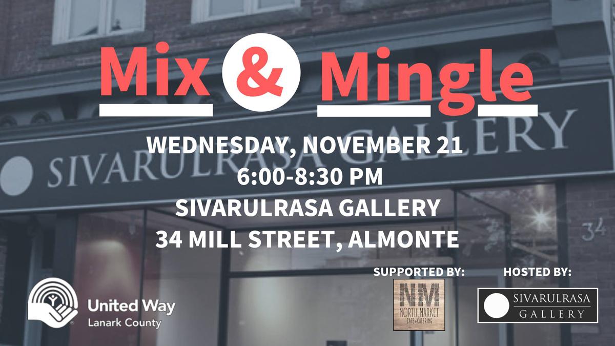 United Way Lanark County fundraiser at Sivarulrasa Gallery