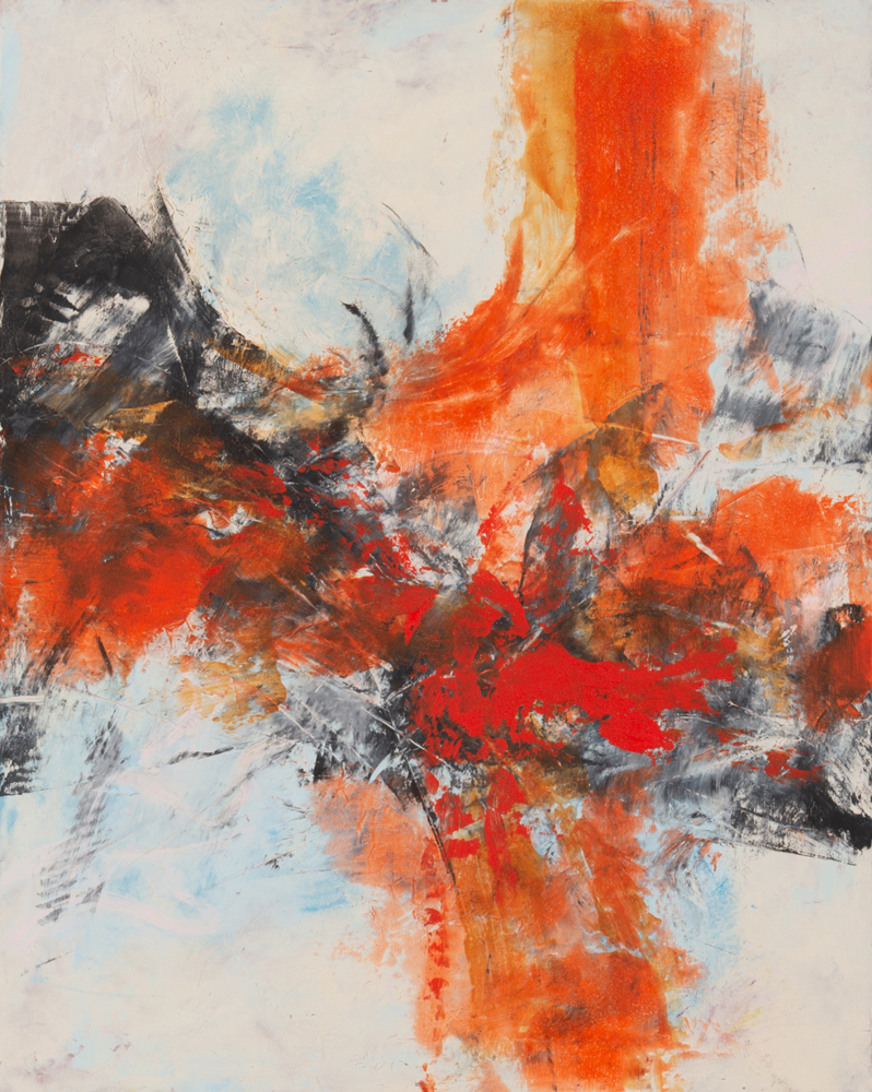 Painting by Catherine Gutsche at Sivarulrasa Gallery