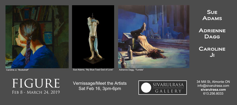 Adrienne Dagg, Caroline Ji, and Sue Adams at Sivarulrasa Gallery