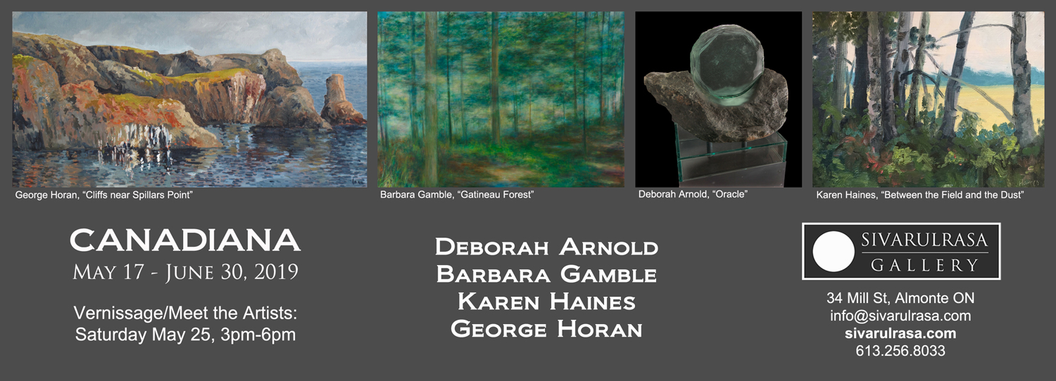 Deborah Arnold, Barbara Gamble, Karen Haines, and George Horan at Sivarulrasa Gallery