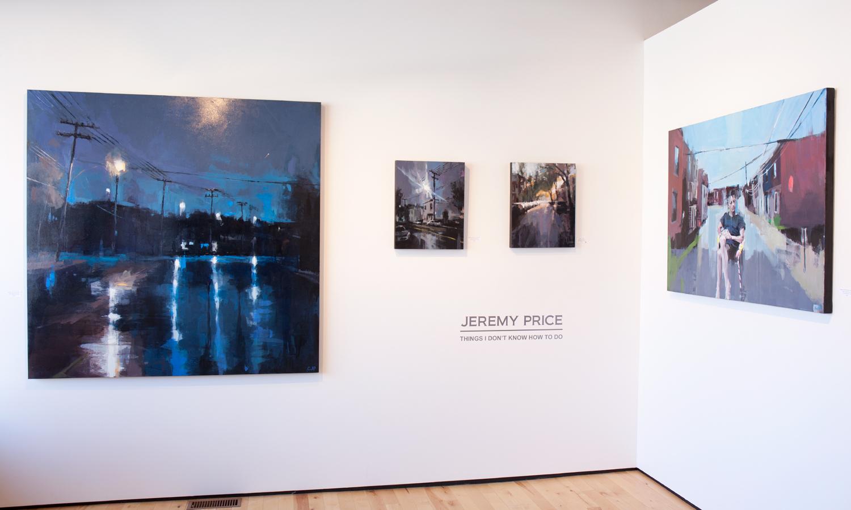 Jeremy Price paintings at Sivarulrasa Gallery