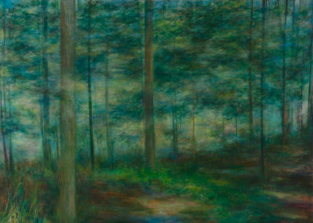 Barbara Gamble paintings at Sivarulrasa Gallery in Almonte, Ontario