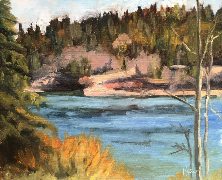 Artist Karen Haines paintings at Sivarulrasa Gallery in Almonte, Ontario