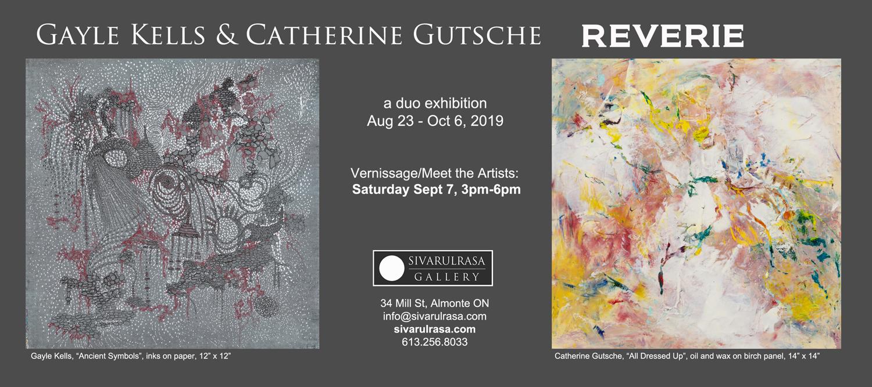 Gayle Kells and Catherine Gutsche at Sivarulrasa Gallery
