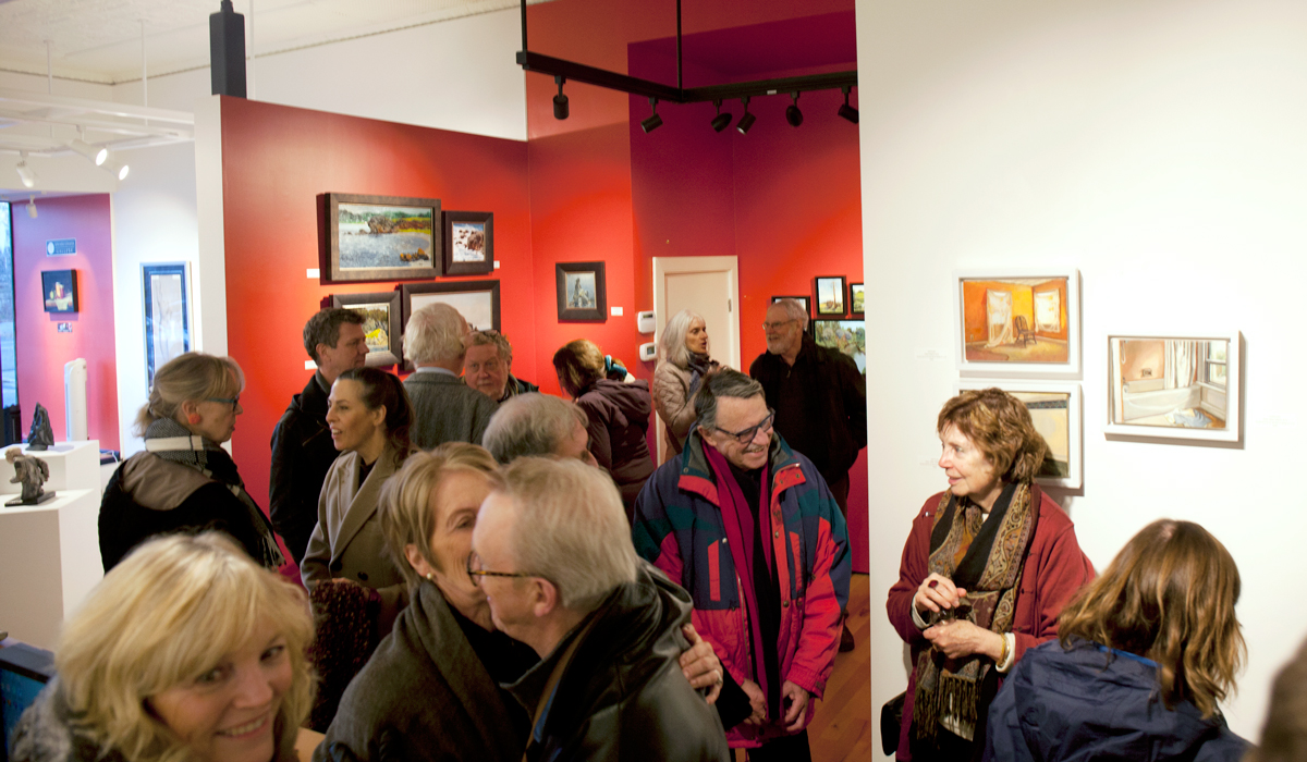 5th Anniversary Show vernissage at Sivarulrasa Gallery, Almonte, Ontario