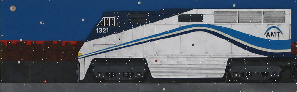 MONTREAL COMMUTER (TRAIN) DE BANLIEU, Eric Walker, Panel 1 of 7