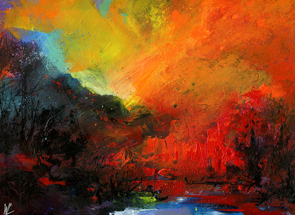 William Liao paintings at Sivarulrasa Gallery