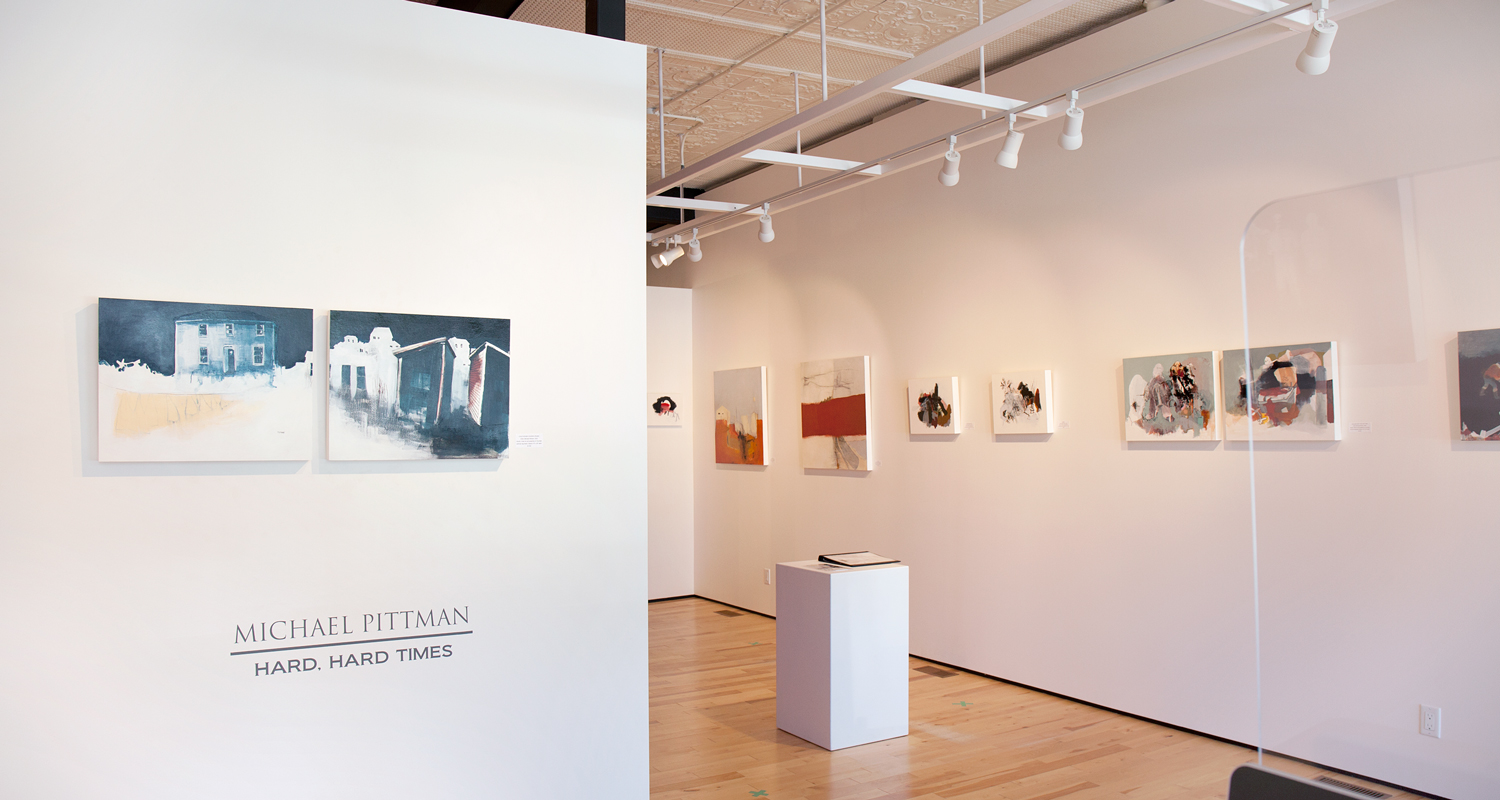 Michael Pittman paintings at Sivarulrasa Gallery