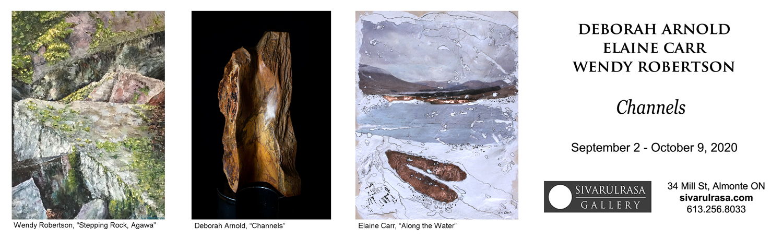 Deborah Arnold, Elaine Carr, Wendy Robertson at Sivarulrasa Gallery