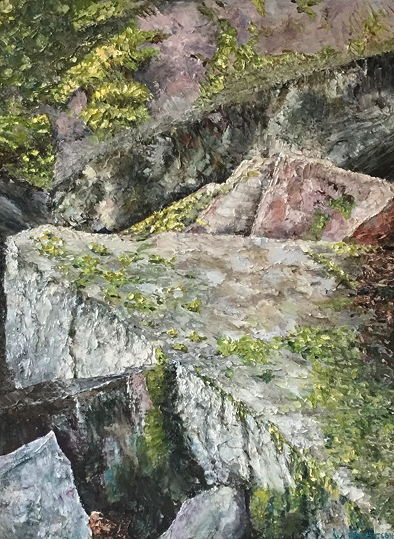 Paintings by Wendy Robertson at Sivarulrasa Gallery